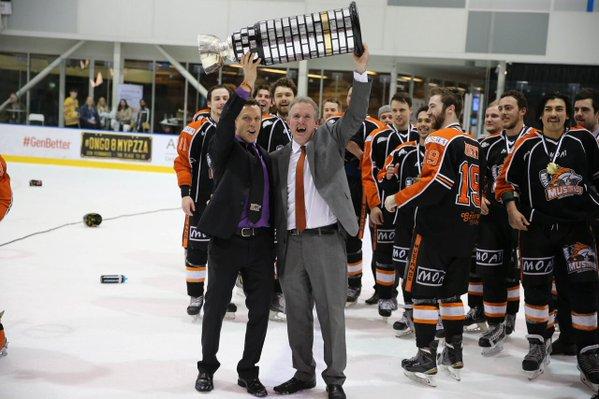 Brad Vigon with the goodall cup