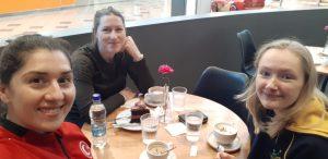 Sera Doğramacı with Stephenie Cochrane and Remi Harvey